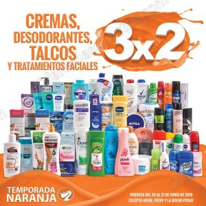 Temporada Naranja 2018: 3×2 en cremas, desodorantes, talcos y tratamientos faciales