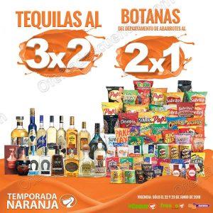 Temporada Naranja 2018 La Comer: 3×2 en Vinos y Licores y 2×1 en Botanas
