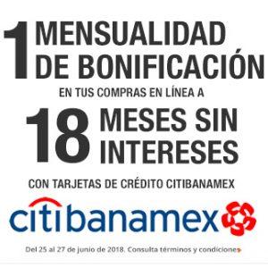 The Home Depot: 1 de Bonificación con Citibanamex Tienda en Linea