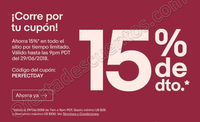 eBay: Cupón 15% de Descuento