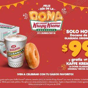 Krispy Kreme: Día de la Dona Café Gratis al Comprar Docena