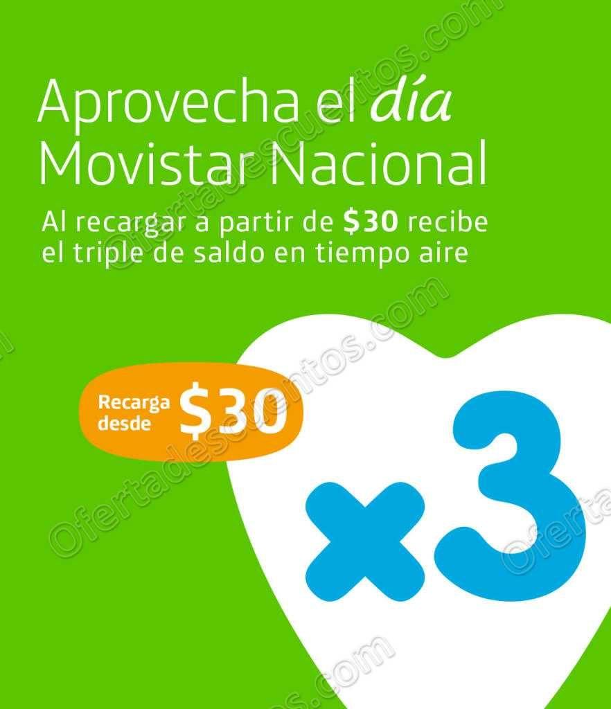 Movistar: Día Movistar 29 de Junio 2018 Triple de Saldo