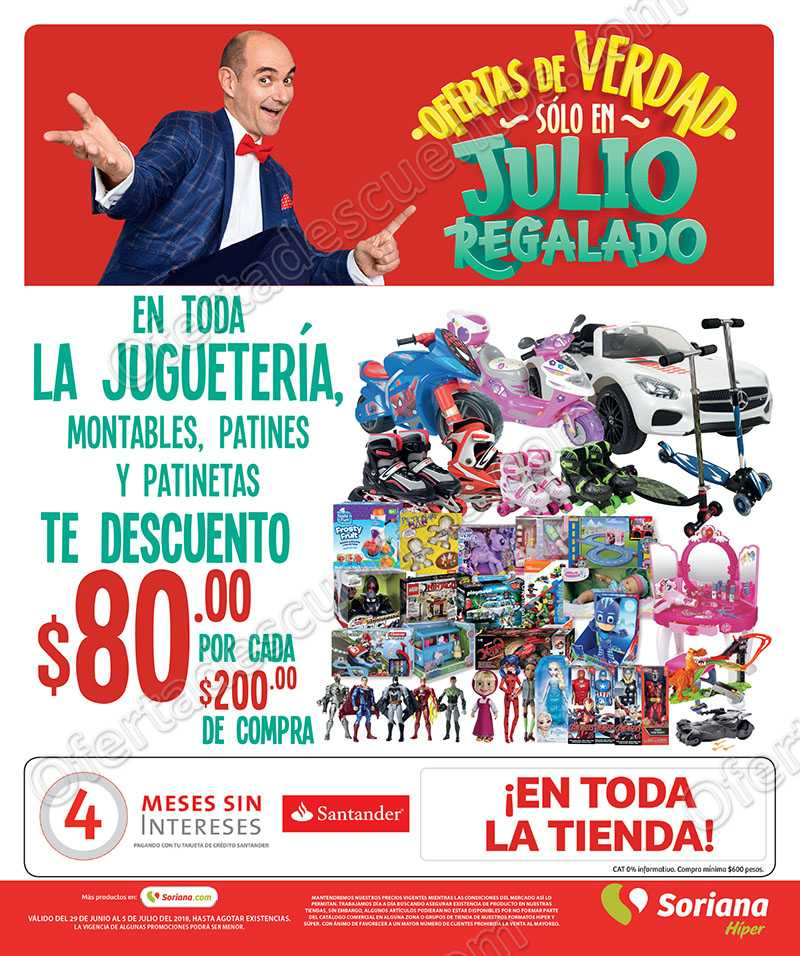 Julio Regalado 2018: Folleto de Ofertas del 29 de Junio al 5 de Julio 2018
