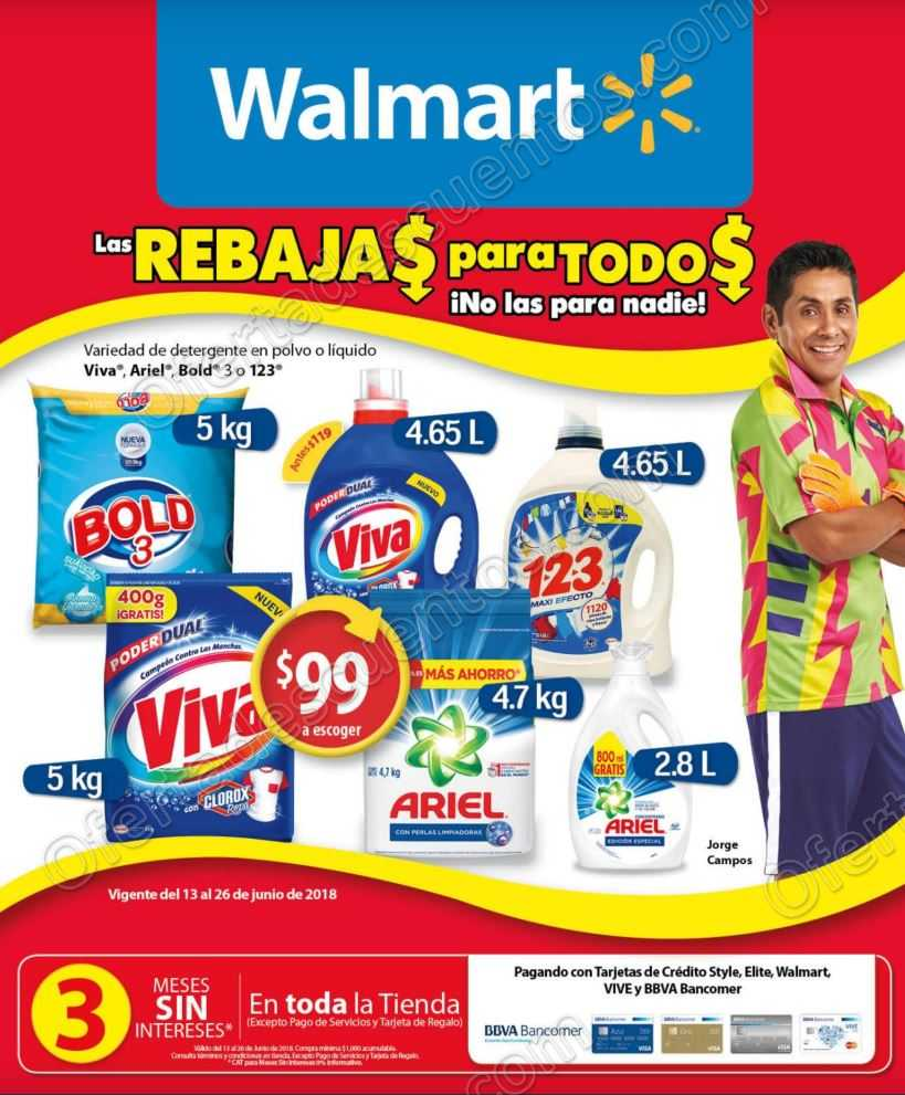 Folleto Walmart del 13 al 26 de Junio 2018