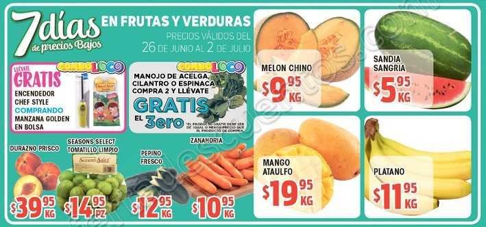 HEB: Frutas y Verduras del 26 de Junio al 2 de Julio 2018