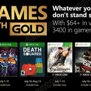 Xbox Live: Games Whit Gold Julio 2018