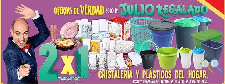Julio Regalado 2018: 2×1 en Cristalería y Plásticos del Hogar