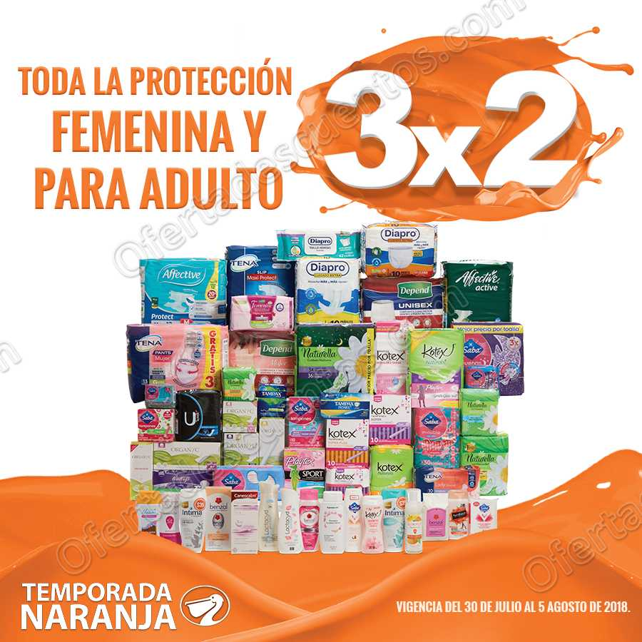 Temporada Naranja 2018 La Comer: 3×2 en Protección Femenina y para Adulto