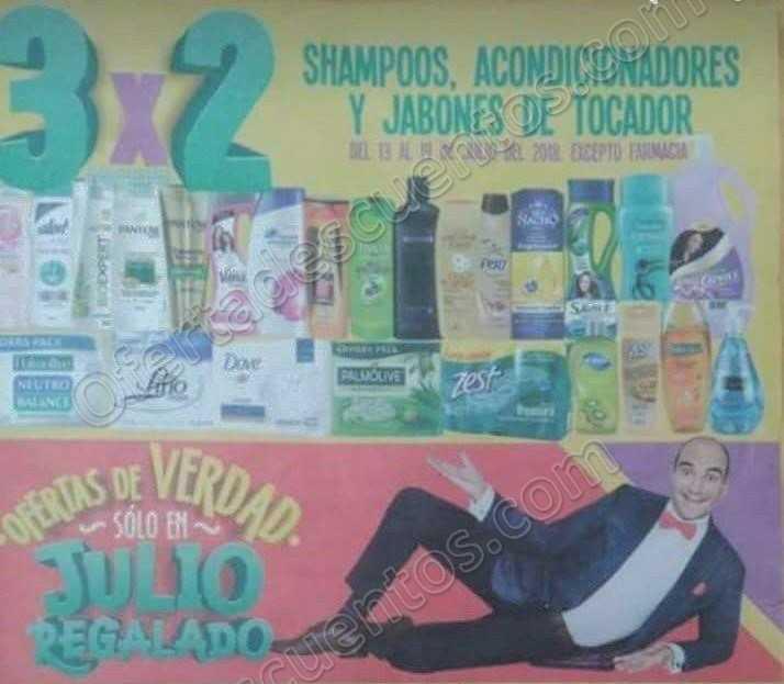 Julio Regalado 2018: 3×2 en Shampoos, acondicionadores y jabones de tocador