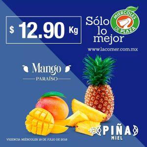 La Comer: Frutas y Verduras Miércoles de Plaza 18 de Julio 2018