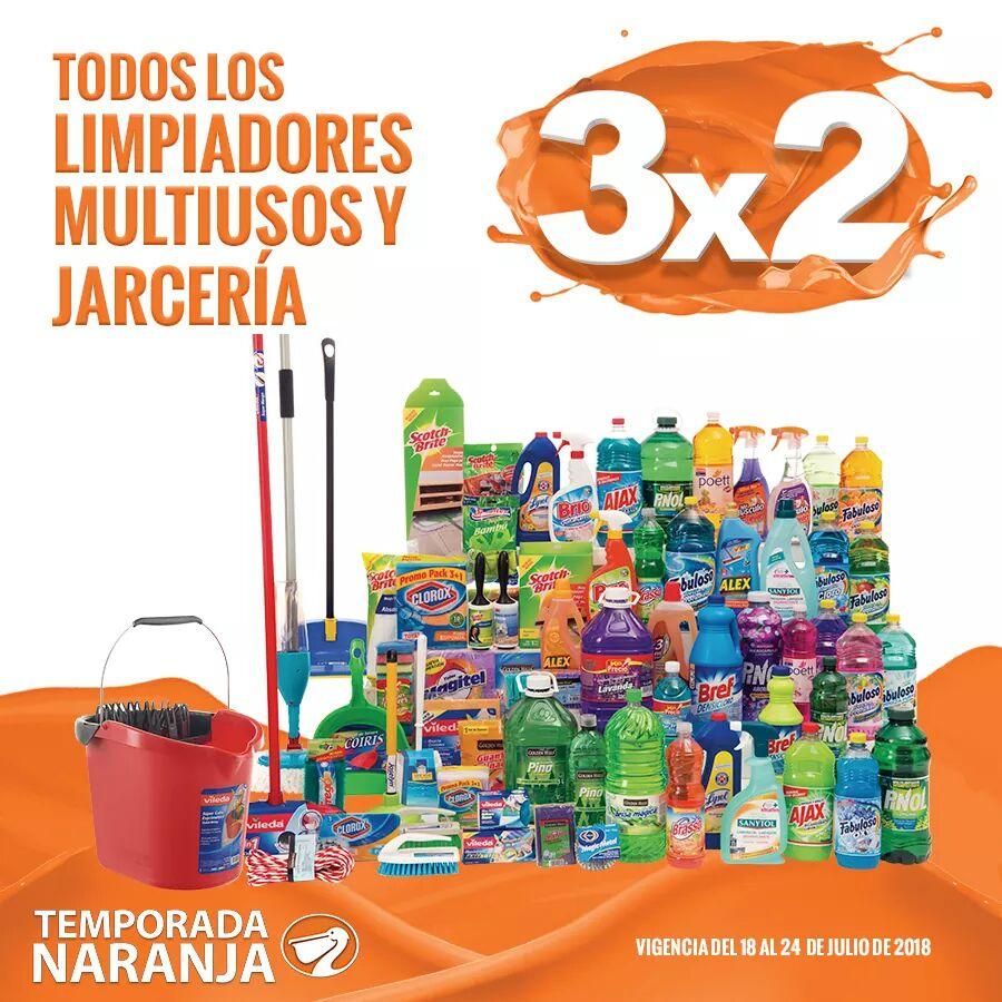 Temporada Naranja 2018 La Comer: 3×2 en Limpiadores multiusos y Jarciería