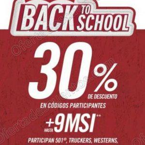 Levis: Promoción Back to School 30% de descuento en artículos participantes