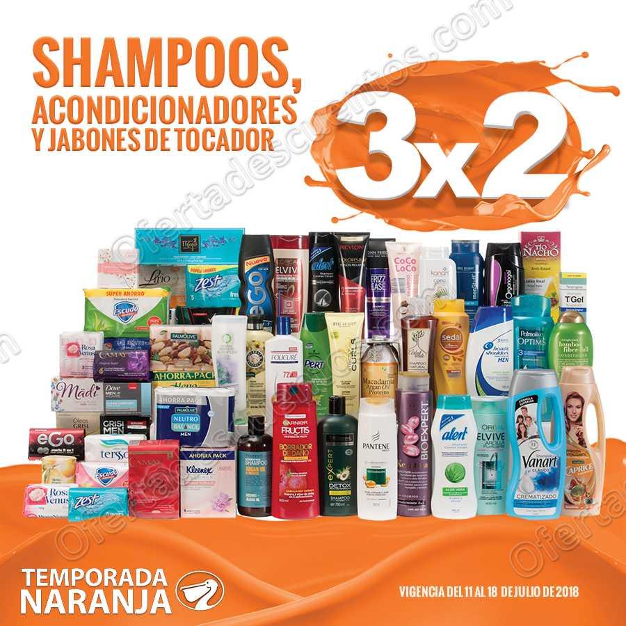 Temporada Naranja 2018 La comer: 3×2 en Shampoos, Acondicionadores y Jabones de tocador