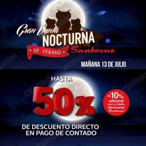Venta Nocturna de Verano Sanborns 13 de Julio 2018