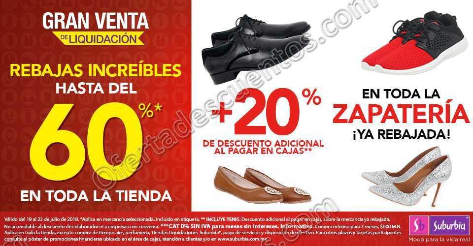 Suburbia: Hasta 60% de Descuento en Toda la Tienda + 20% Adicional en Zapatería