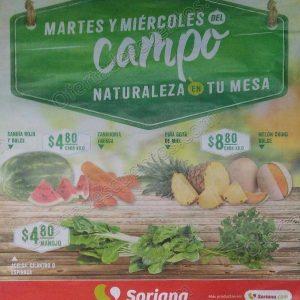 Frutas y Verduras Mega Soriana 31 de Julio y 1 de Agosto 2018