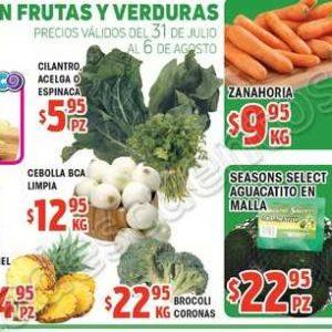 Frutas y Verduras HEB 31 de Julio al 6 de Agosto 2018