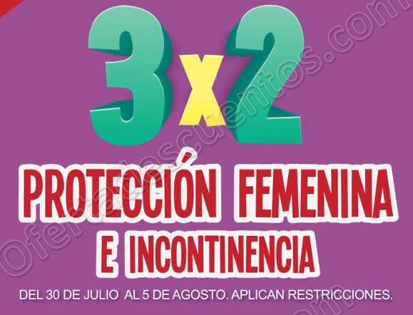 Julio Regalado 2018: 3×2 en Protección Femenina e Incontinencia