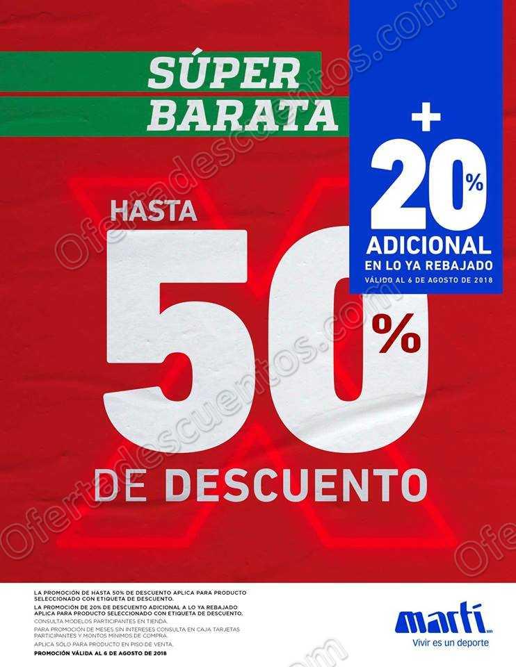 Super Barata Martí 2018: Hasta 50% de Descuento + 20% Adicional