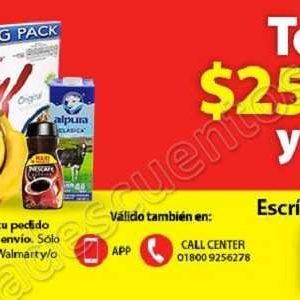 Walmart: Cupón $250 Super Online