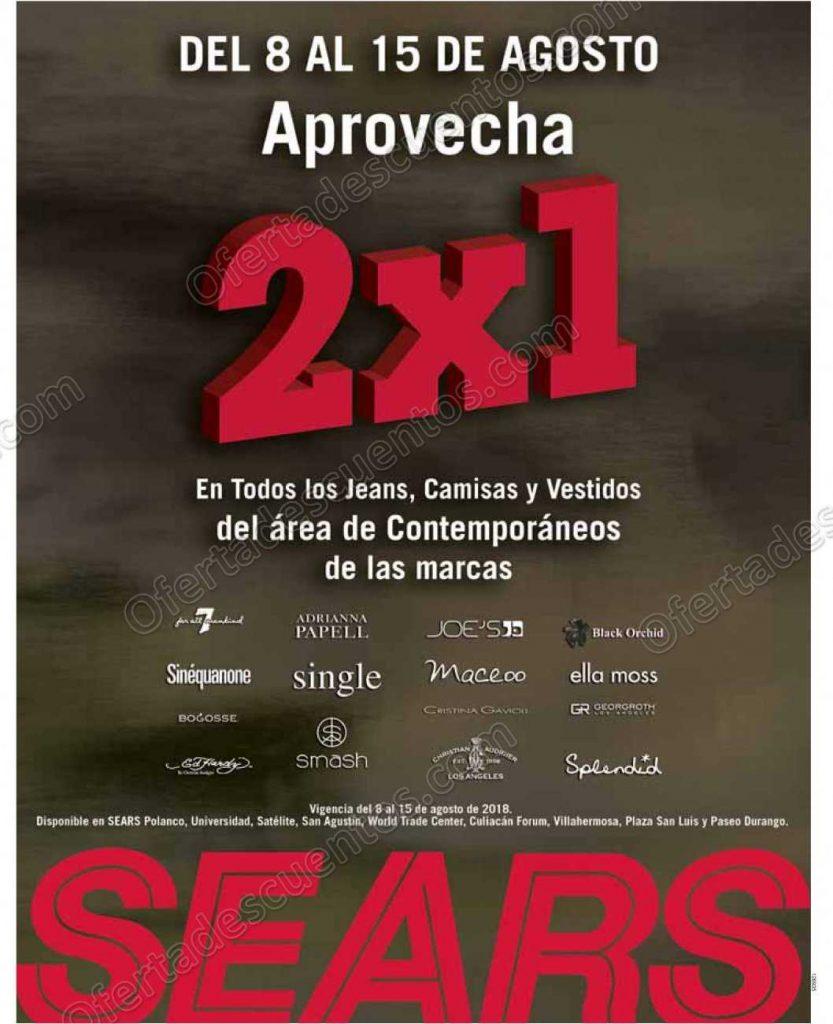 Sears: 2×1 en Jeans, Camisas y Vestidos de Marcas Seleccionadas