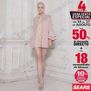 4 Días de Venta Especial Sears del 24 al 27 de Agosto 2018