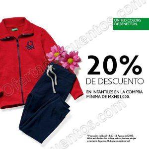 Benetton: 20% de descuento en Infantiles del 24 al 31 de agosto 2018