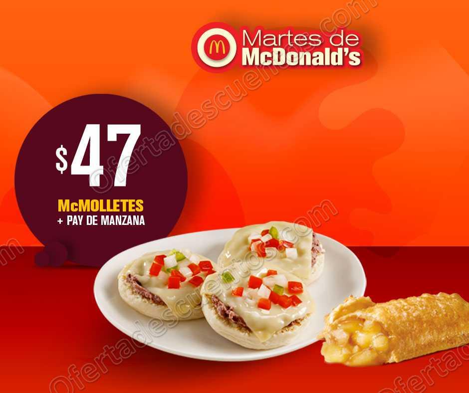 Cupones Martes de McDonald's 21 de Agosto 2018