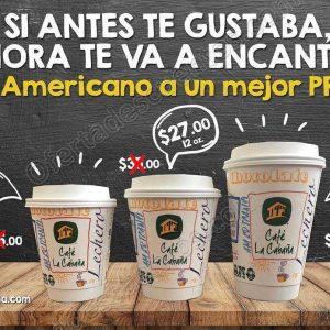 Café La Cabaña: Descuentos en Café Amerciano 8, 12 y 16 oz