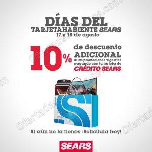 Sears: Días del Tarjetahabiente 17 y 18 de Agosto 2018