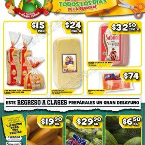 Bodega Aurrerá: Ofertas Frutas y Verduras Tiánguis de Mamá Lucha del 10 al 16 de Agosto 2018