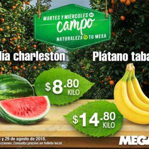 Frutas y Verduras Mega Soriana 28 y 29 de Agosto 2018