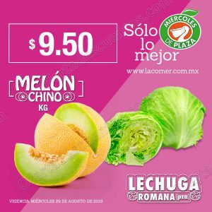 Frutas y Verduras Miércoles de Plaza La Comer 29 de Agosto 2018