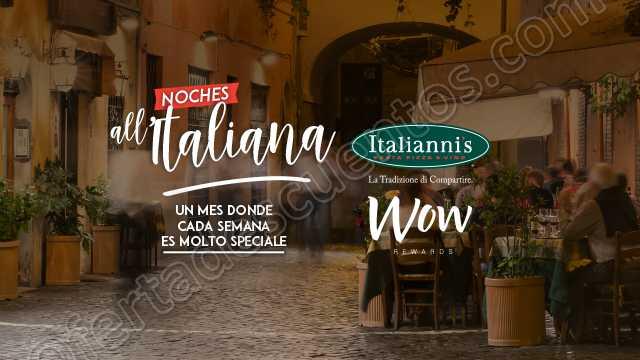 Italiani's: 30% de descuento en el total de tu cuenta