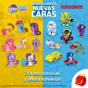 Nuevos Juguetes en Cajita Feliz McDonald's ahora My Little Pony y Transformers