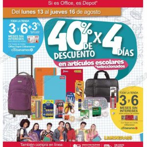 Office Depot: 4 Días de descuentos con hasta 40% en Artículos Escolares del 13 al 16 de agosto