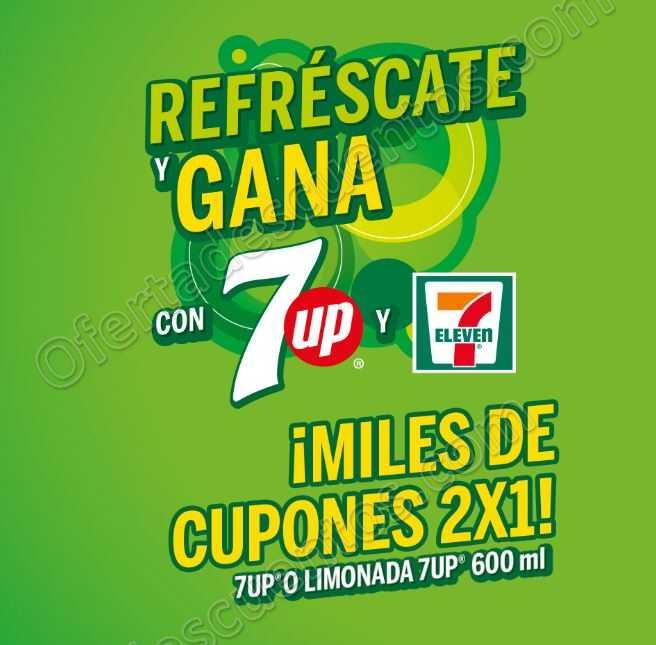Promoción Gana con 7Eleven y 7up: Cupones al 2×1 en bebidas 7UP o Limonada mineralizada