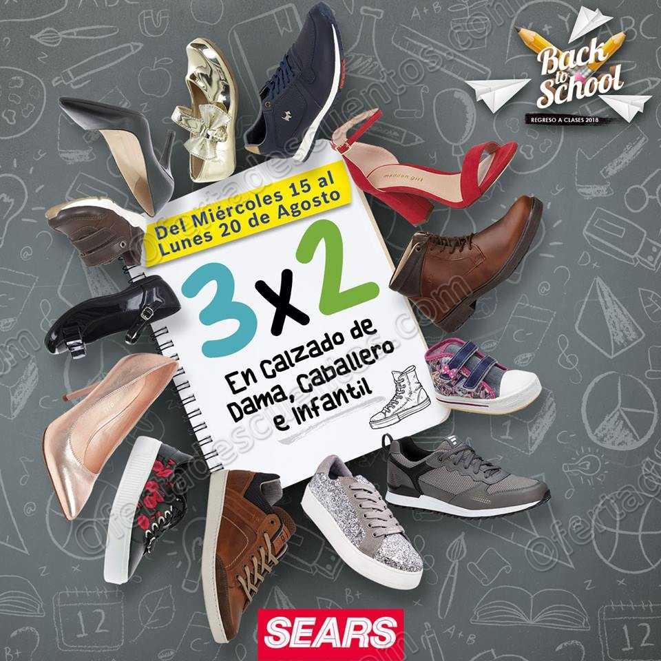 Sears: Promoción Back to School 3×2 en calzado para dama, caballero e infantil