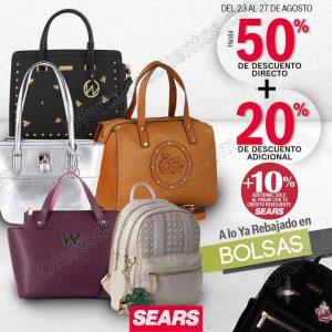 Sears: Hasta 50% de descuento más 20% adicional en Bolsos