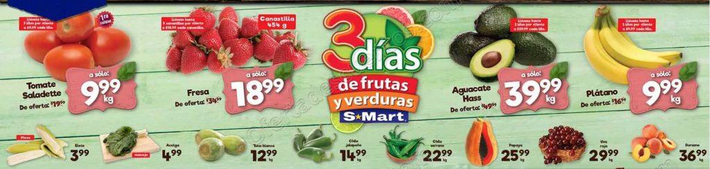 S-Mart: 3 Días de ofertas en frutas y verduras del 7 al 9 de Agosto 2018