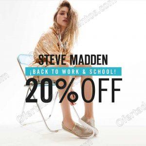 Steve Madden: Back to School 20% de descuento en artículos seleccionados