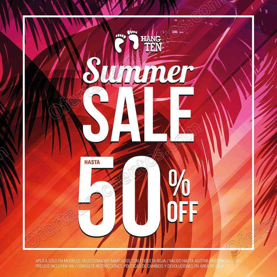Hang Ten: Summer Sale hasta 50% de descuento todo Agosto