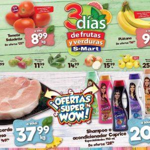 Tres Días de Frutas y Verduras S-Mart del 14 al 16 de Agosto 2018