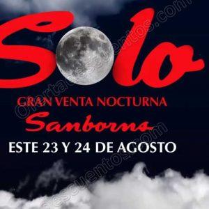 Venta Nocturna Sanborns 23 y 24 de Agosto 2018