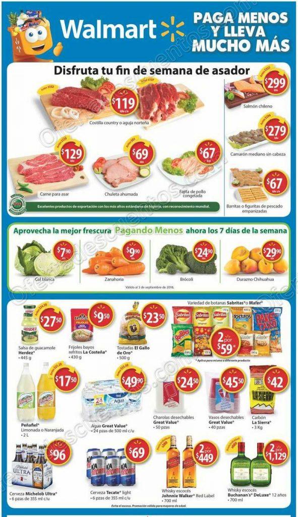 Walmart: Ofertas fin de semana de carnes, frutas y verduras al 2 de Septiembre