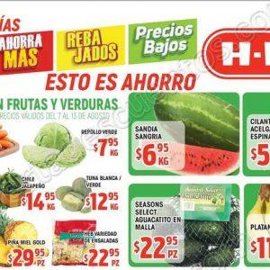 Ofertas Frutas y Verduras HEB del 7 al 13 de Agosto 2018