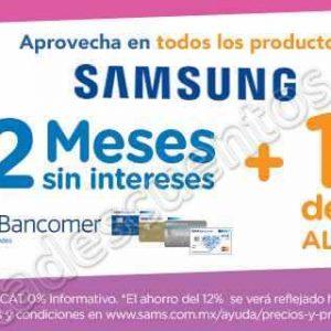 Sam's Club: 12% de Descuento en Samsung con Bancomer