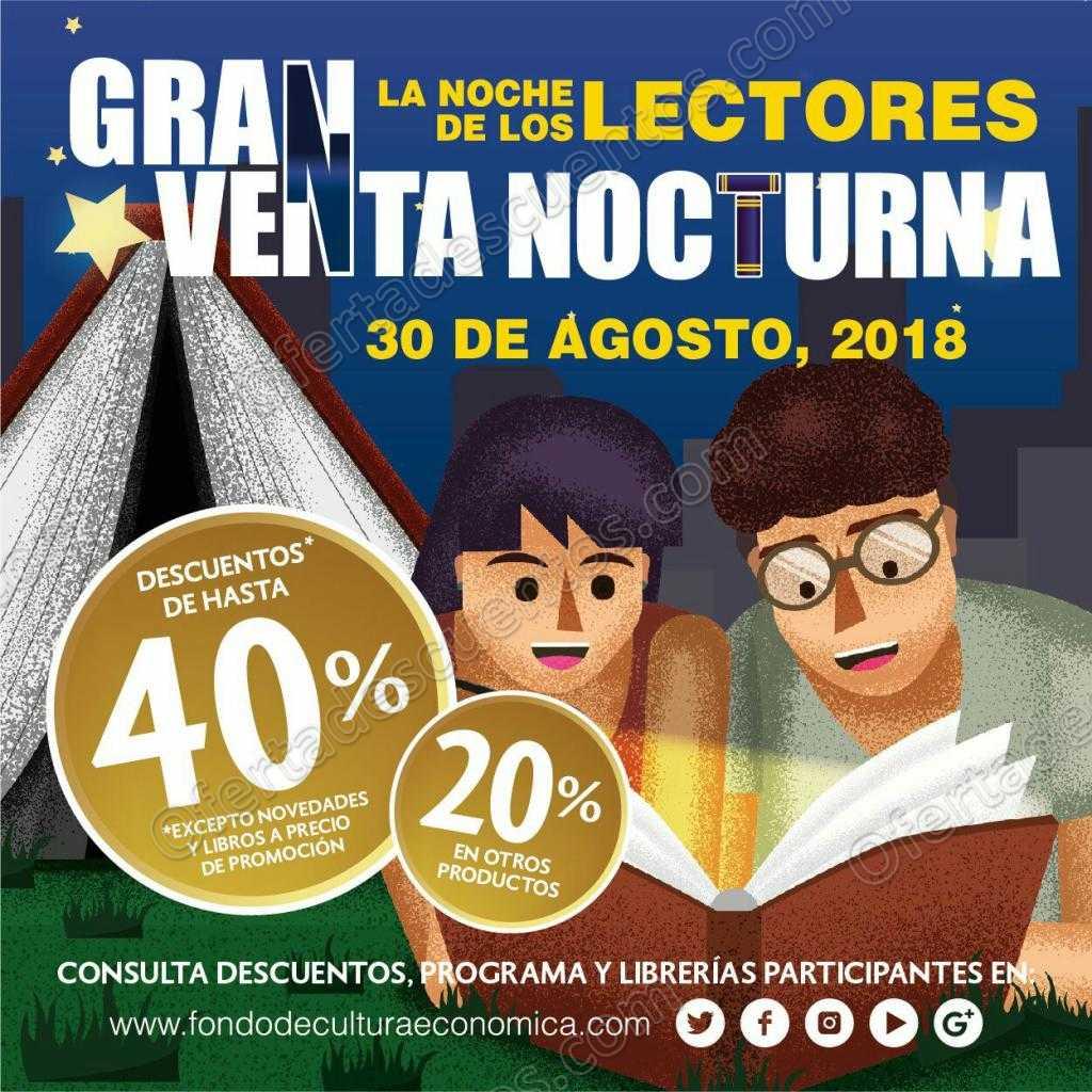 Venta Nocturna Fondo de Cultura Económica 30 de Agosto 2018