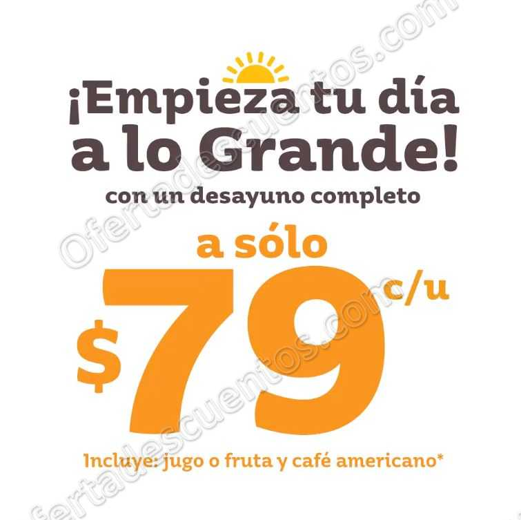 Vips: Desayunos Completos por $79