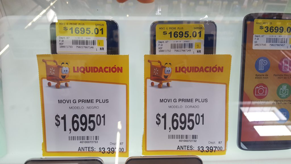Walmart: Smartphone Samsung Galaxy Grand Prime Plus a $1,695.01